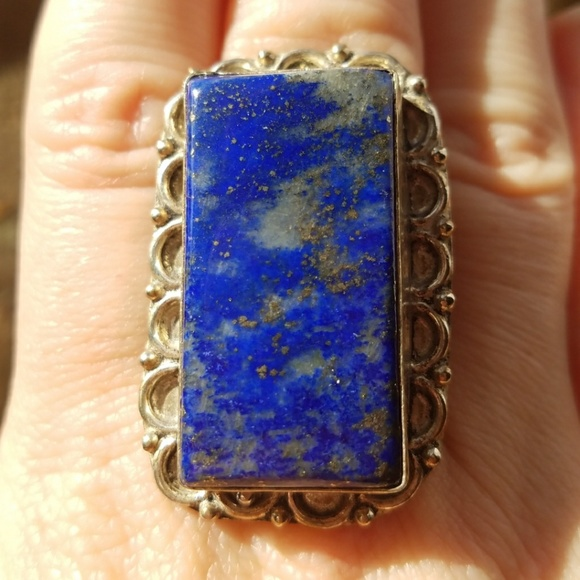 df000c9e0 Jewelry | Lovely Large Lapis Stone Silver Ring | Poshmark